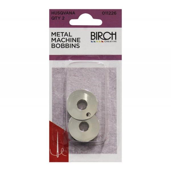 Birch Husqvana Metal Machine Bobbins (2 Pack)