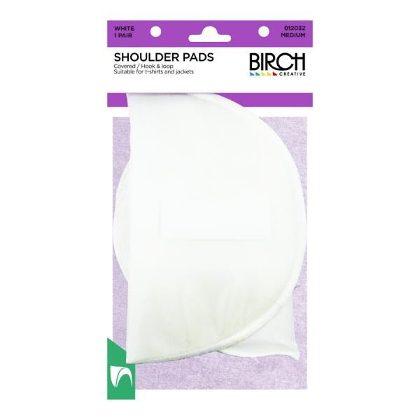 Birch Covered Shoulder Pads (With Touch Tape)