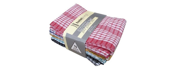 Hotel Living 10 Piece Kitchen Tea Towel Set