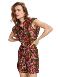 Scotch & Soda Womens Floral Print Playsuit