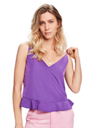Scotch & Soda Womens Peplum Tank Top