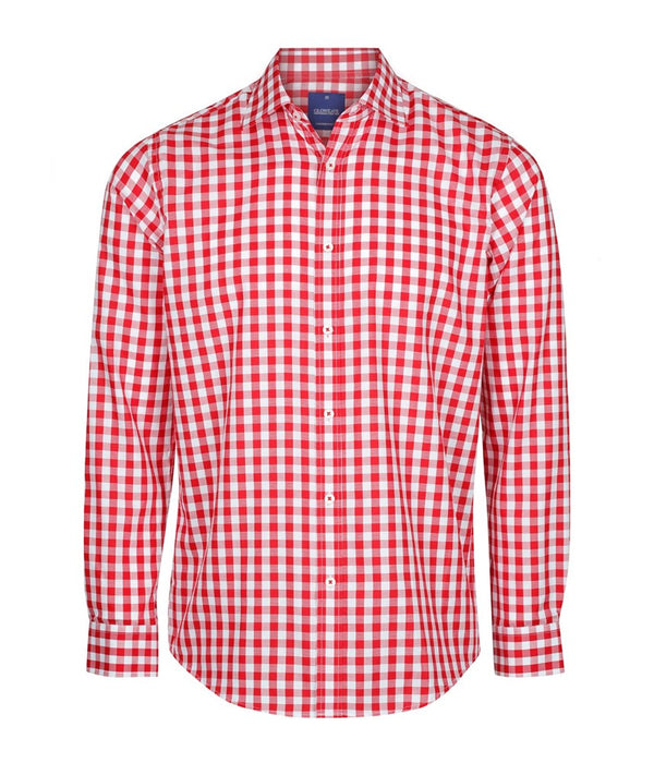 Gloweave Mens Royal Oxford Long Sleeve Shirt - Red