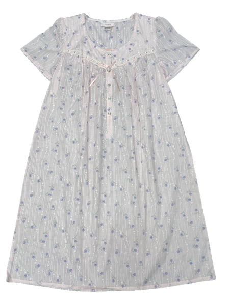 Schrank Ameila Short Sleeve Cotton Woven Nightie