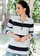 Goondiwindi Cotton Zip Stripe Rugby