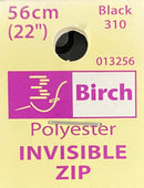 Birch Invisible Zip 56cm