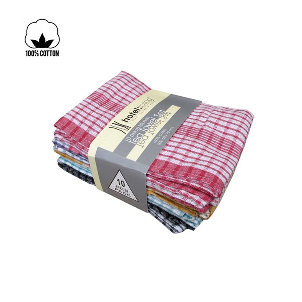 Hotel Living 5 Piece Kitchen Tea Towel Set
