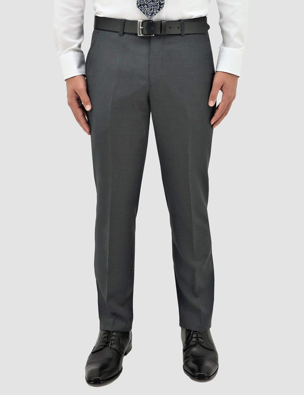 Boston Classic Fit Lyon Trouser (Pin Dots, Grey)