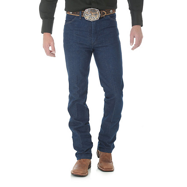 Wrangler Mens Cowboy Cut Slim Fit Jean (Rigid Indigo)