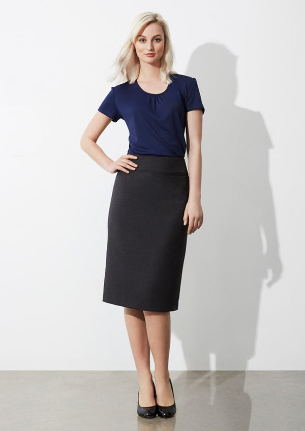Biz Collection Womens Classic Below Knee Skirt