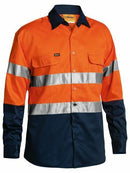 Bisley 2 Tone  Hi Vis Shirt 3M Tape - Long Sleeve