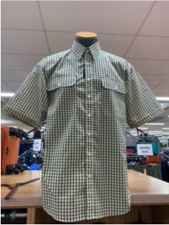 Bisley Mens Poly Cotton Yellow Check Shirt