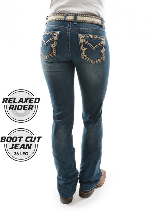 Pure Western Women's Carolina Relaxed Rider Jean