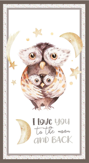 Devonstone Collection A Mother's Love Owlet Panel (DV3457)