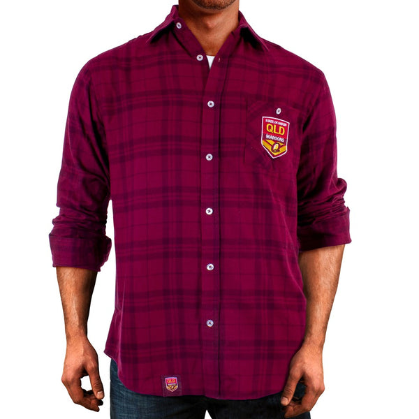 State of Origin QLD  Flannel Shirt