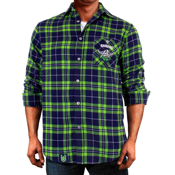 NRL Raiders Flannel Shirt