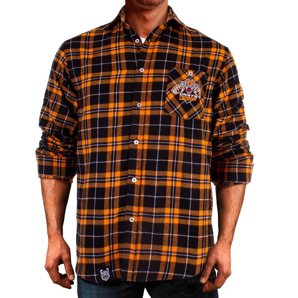 NRL West Tigers Flannel Shirt
