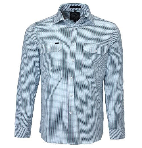 Ritemate Pilbara Mens Long Sleeve Shirt Dual Pocket