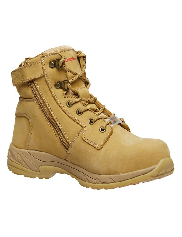 King Gee Womens Tradie Side Zip Safety Boot