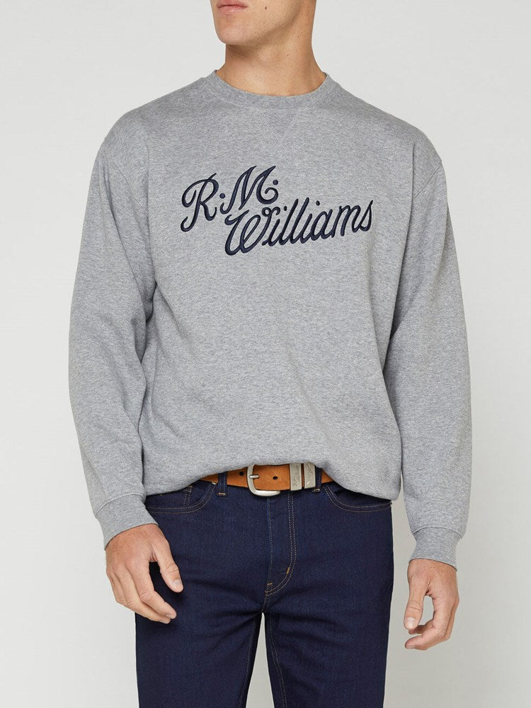 RM Williams Script Crew Neck Jumper