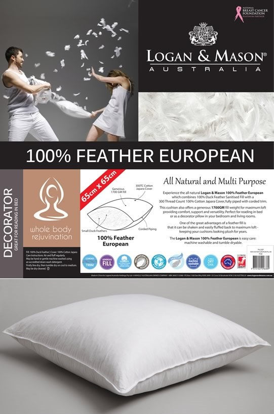 Logan & Mason 100% Feather European