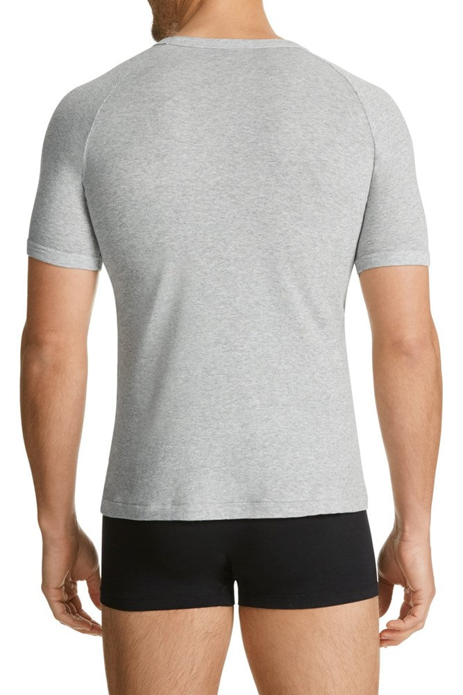 Bonds V Neck Raglan Tee (Grey Marle)