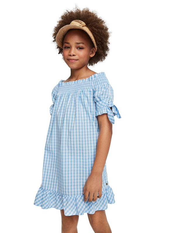 Scotch & Soda Off-Shoulder Gingham Dress