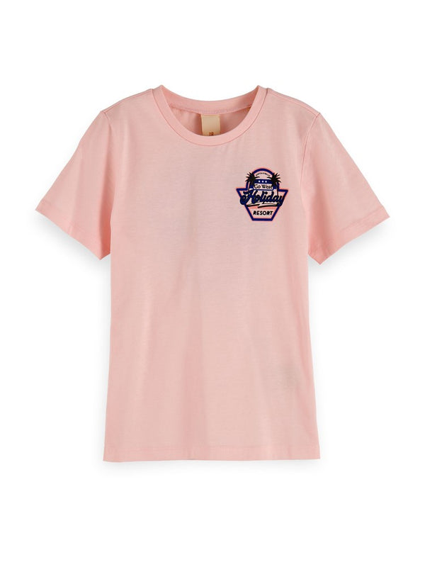 Scotch & Soda Girls Cotton Artwork Tee