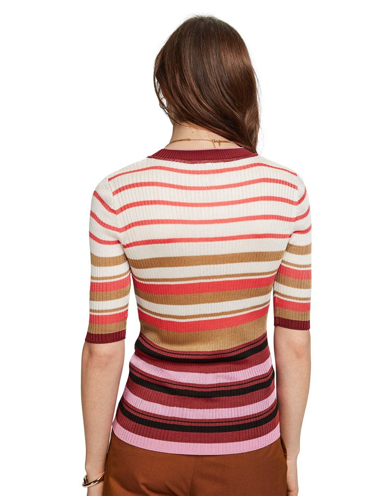 Scotch & Soda Multi-Coloured Striped Pullover