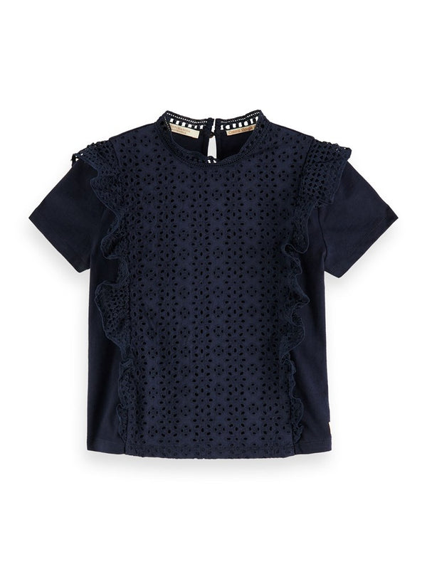 Scotch & Soda Girls Broderie Anglaise Top