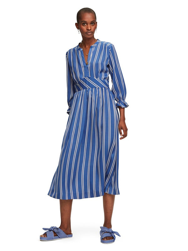 Scotch & Soda Midi Length Dress With Fitted Waist