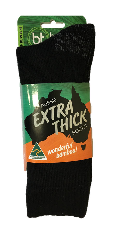 Bamboo Textiles Aussie Extra Thick Socks