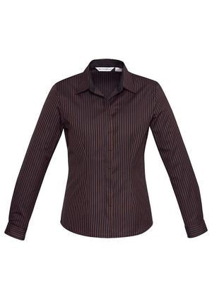 Biz Collection Womens Reno Stripe Long Sleeve Shirt