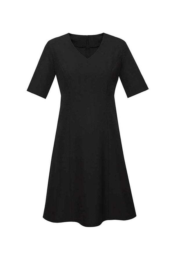 Biz Collection Womens Siena Extended Short Sleeve Dress