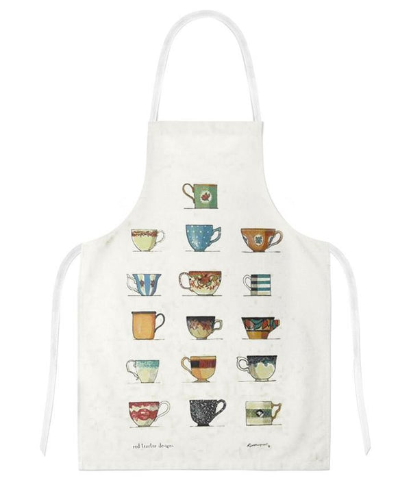 Red Tractor - Tea Cups - Apron