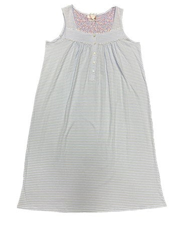 Schrank Sarah Stripe Sleeveless Cotton Knit Nightie