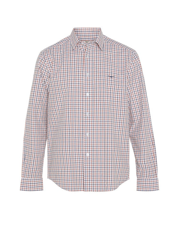 R.M. Williams Collins Shirt (White/Orange/Brown)