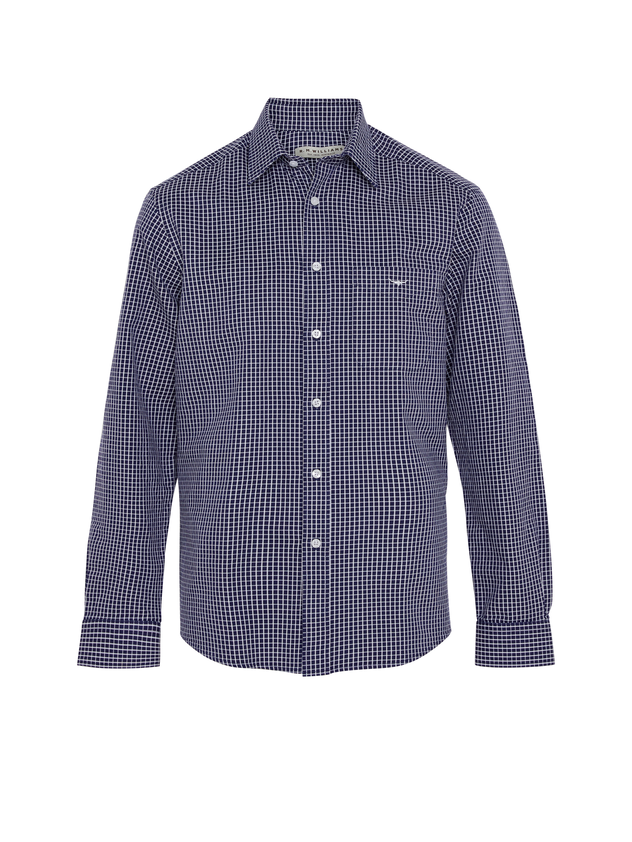 RM Williams Mens Collins Shirt (Navy White)