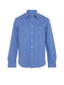 RM Williams Mens Collins Shirt (White Blue)