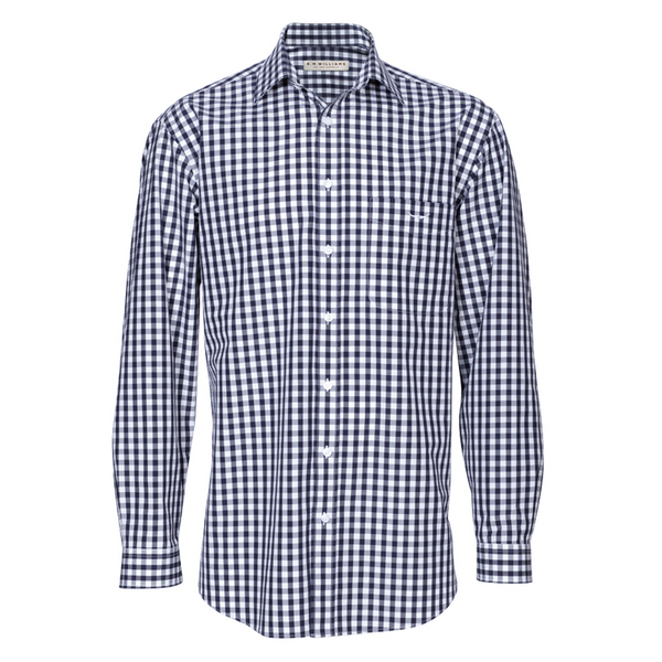 RM Williams Collins Shirt (Navy/White Bold Check)