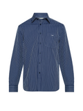 RM Williams Mens Collins Shirt (Navy/White)