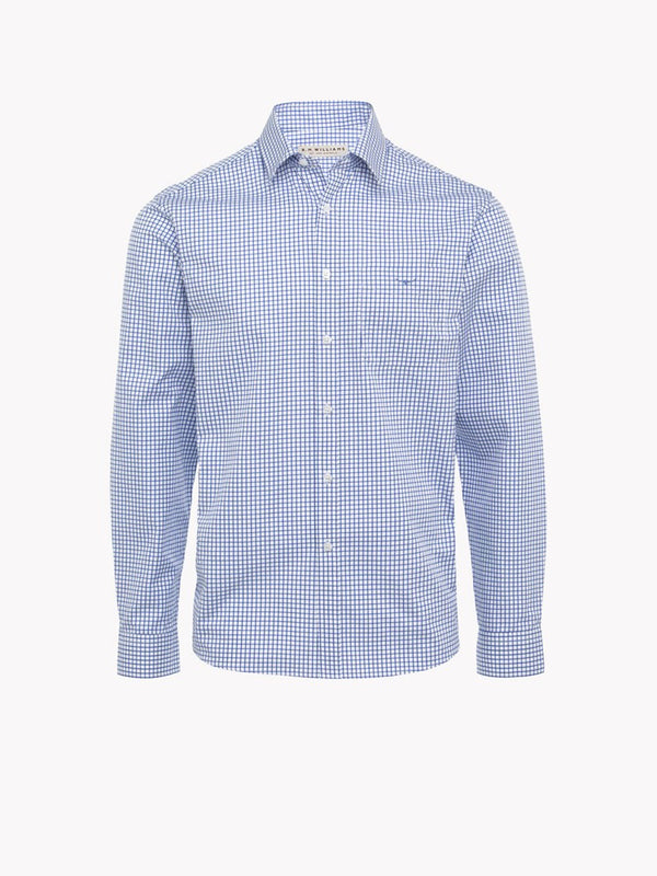 RM Williams Collins Shirt (White/Blue)