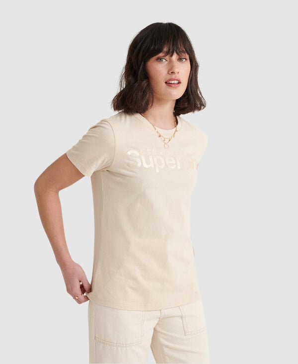 Superdry SL Bonded Satin Entry Tee