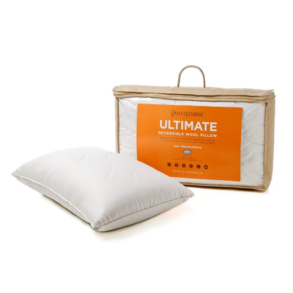 MiniJumbuk Ultimate Reversible Low/Medium Wool Pillow