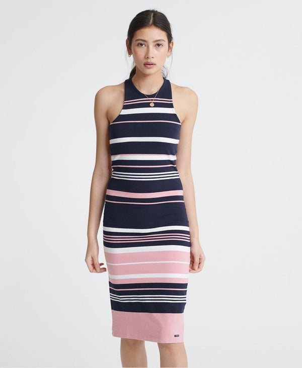 Superdry Verigated Stripe Midi Dress
