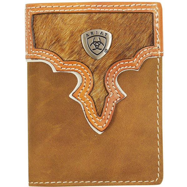 Ariat Tri-Fold Wallet - Two Toned Hair On