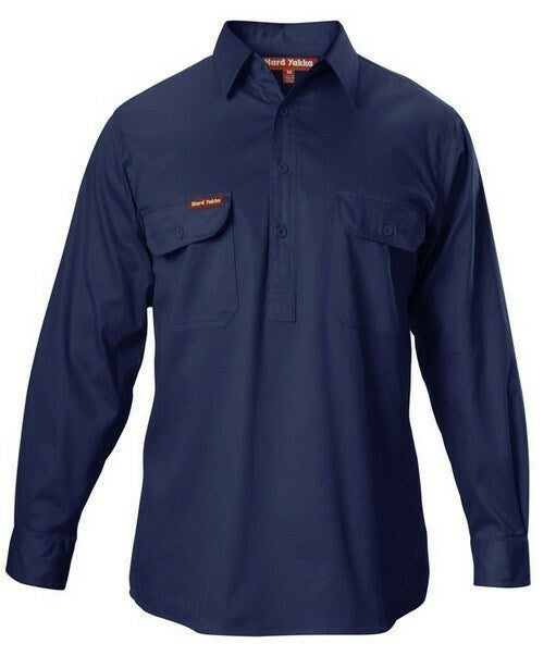 Long Sleeve Closed Front Drill Shirt