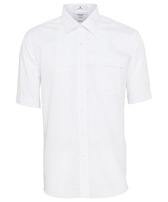 Van Heusen Mens Classic Relaxed Fit, Short Sleeve Shirt - Solid White