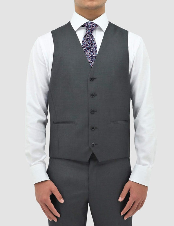 Boston Classic Fit Ryan Vest (Pin Dots, Grey)