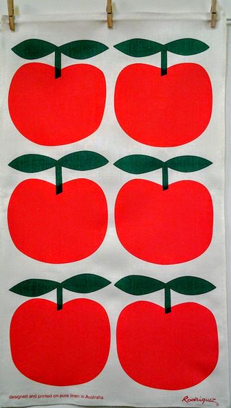 Rodriquez Tea Towel - Big Red Apple