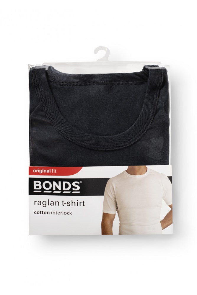 Bonds Raglan Crew Neck Tee (Black)